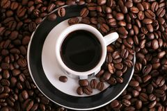 Coffee in a cup Royalty Free Stock Images