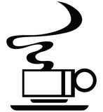 Coffee cup. Monochrome vector sign Royalty Free Stock Photography