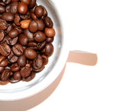 Coffee cup. Coffee beans royalty free stock images