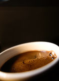 Coffee cup. With close up of coffee Royalty Free Stock Image
