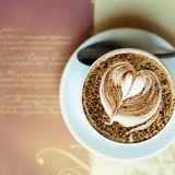 Coffee cup. Close-up shot of barista coffee cup Royalty Free Stock Photo
