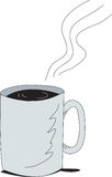 Coffee cup. Hot large cup of steaming coffee Stock Image