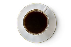 Coffee cup. Cup of hot coffee on a white background Stock Images