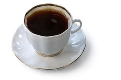 Coffee cup. Cup of hot coffee on a white background Stock Photos