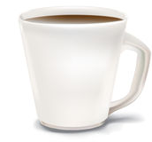 Coffee Cup. White coffee cup illustration. Blank white surface is suitable for a logo or type. Vector illustration can be modified in illustrator Royalty Free Stock Photos