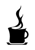 Coffee Cup. Illustration of black color coffee cup icon or symbol royalty free illustration