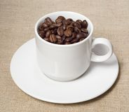Coffee and cup Royalty Free Stock Photos
