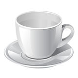 Coffee cup. White vector detailed coffee cup Royalty Free Stock Photos