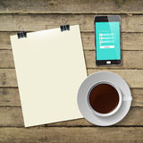 Coffee Cup with Abstract Tablet Vector Royalty Free Stock Photography