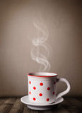 Coffee cup with abstract white steam Royalty Free Stock Image