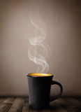 Coffee cup with abstract white steam Royalty Free Stock Images