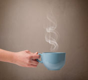 Coffee cup with abstract white steam Royalty Free Stock Photo