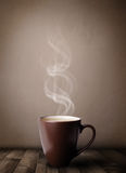 Coffee cup with abstract white steam Royalty Free Stock Photography