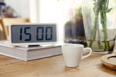 Coffee cup in afternoon time. Stock Photo