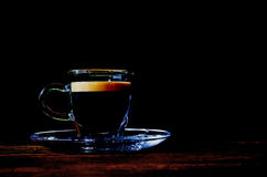 Coffee cup against black background Stock Photos