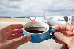 Coffee Cup Airport Business Stock Images