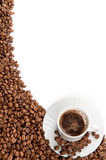 Coffee Cup And Beans Stock Photography
