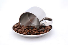 Free Coffee Cup And Beans Royalty Free Stock Photos - 4684268
