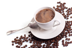 Free Coffee Cup And Coffee Beans Royalty Free Stock Image - 19219556