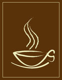 Coffee Cup And Smoke Stock Images