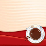 Coffee cup background. A background design with a coffee cup Stock Photo