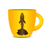 Coffee Cup Background. Photo-Realistic Vector Royalty Free Stock Photography