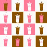 Coffee cup background texture pink, brown Stock Images