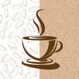 Coffee cup background. Vector coffee cup illustration background Stock Image