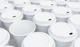 Coffee cup background. On a white background Stock Photo