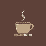Coffee cup bakery concept background Royalty Free Stock Photos