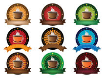 Coffee cup banner set Royalty Free Stock Image