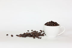Coffee. A cup of coffee bean Royalty Free Stock Photography