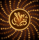 Coffee cup. bean coffee.music jazz. Coffee cup. bean coffee cafe Royalty Free Illustration