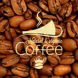 Coffee cup bean design background Royalty Free Stock Photos