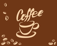 Coffee cup and bean Royalty Free Stock Image
