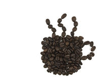Coffee Cup Beans Stock Images