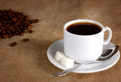 Coffee cup and beans Royalty Free Stock Photo