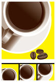 Coffee-cup_beans Stock Image