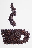 Coffee. Cup of coffee from beans Royalty Free Stock Image