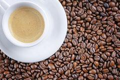 Coffee cup beans background Stock Images