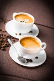 Coffee cup and beans. Royalty Free Stock Photo