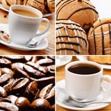 Coffee cup beans cookie Royalty Free Stock Photography
