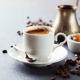 Coffee cup and beans Stock Image