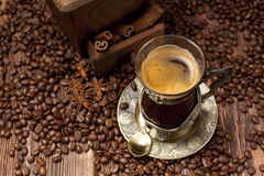 Coffee - cup and beans Royalty Free Stock Photography