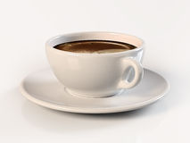 Coffee Cup. Beautiful coffee cup isolated on background Royalty Free Stock Photos