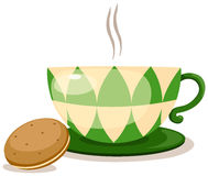 Coffee cup with biscuits Royalty Free Stock Image