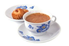 Coffee cup and biscuits Royalty Free Stock Image