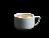 Coffee cup on black background Royalty Free Stock Photo