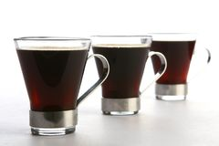 Coffee cup with black coffee Stock Image