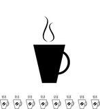 Coffee Cup Black Icon Royalty Free Stock Photo
